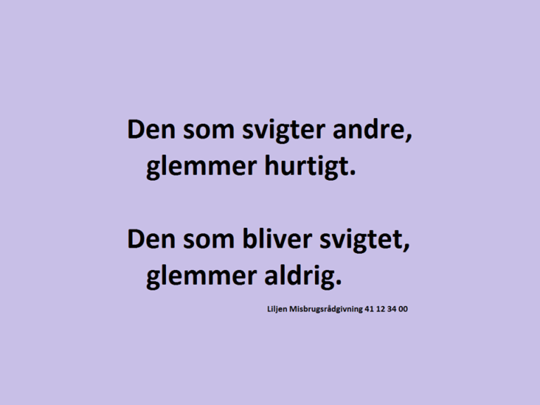 Svigt - DAGENSDELER.DK